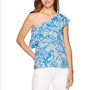 Lily Pulitzer Matteo one Shoulder blouse